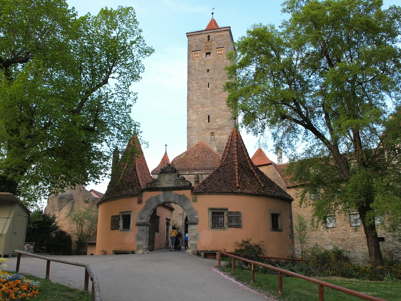 Die Stauferburg in Rothenburg o.d.T.